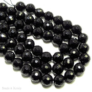 Dakota Stones Onyx Large Hole Bead Round Faceted 10mm (8 Inch Strand)