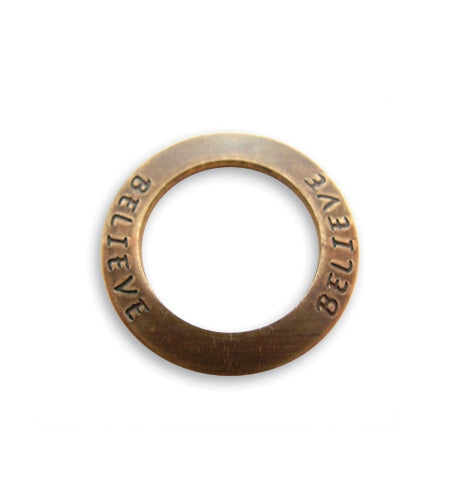 Vintaj Believe Affirmation Ring 22mm (1pc)