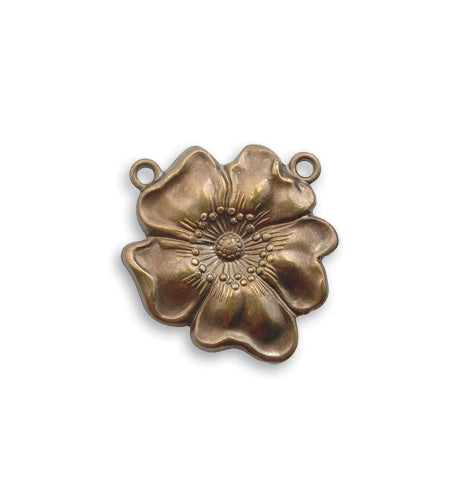 Vintaj Flower Pendant 16mm P70 (1pc)