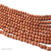 Palmwood Light Red Round 6-7mm (Full Strand)