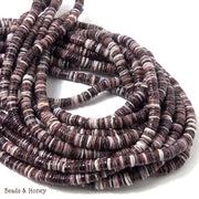 Purple Oyster Shell Heishi 5-6mm (24 Inch Strand)