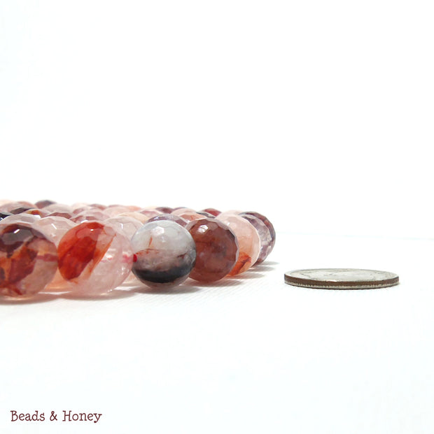 Red Quartz Round Faceted 10mm (Full Strand)