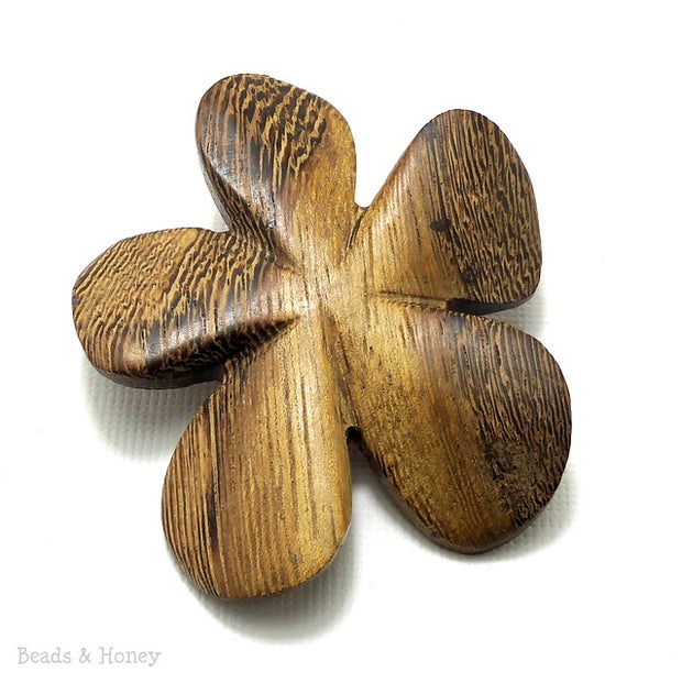 Robles Wood Carved Flower Focal Bead 45-50mm (2pcs)