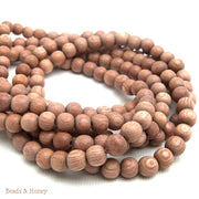 Rosewood Round 6mm (Full Strand)