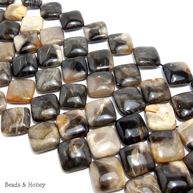 Gray Sheepskin Jasper Diamond Smooth 18mm (Half Strand)