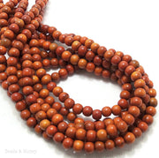 Sibucao Wood Round 6mm (16-Inch Strand)