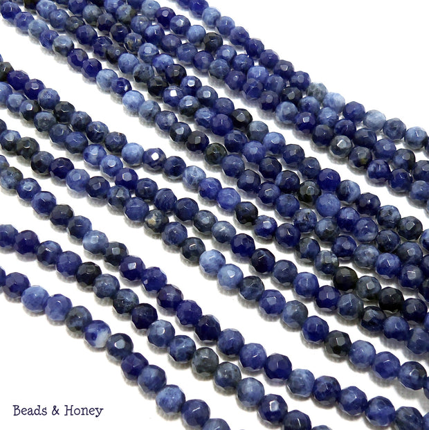 Sodalite Round Faceted 4mm (Half Strand)