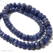 Tanzanite Rondelle Faceted Graduated 6-14mm (Full Strand)