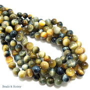 Golden Blue Tiger Eye Round 6mm (15-Inch Strand)