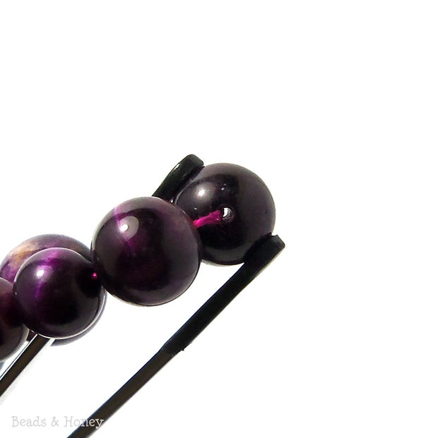 Tiger Eye Purple Round Smooth Graduated 6-16mm (Full Strand)