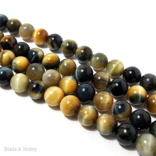 Golden Blue Tiger Eye Round 8mm (15.5-Inch Strand)