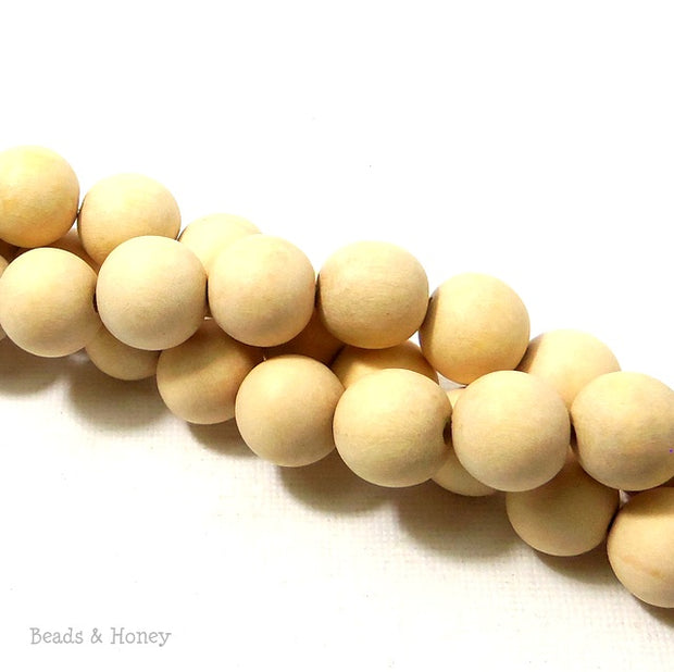 Unfinished Whitewood Round 12mm (16 Inch Strand)
