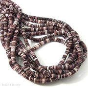 Violet Oyster Shell Beads Heishi 4-5mm (16-Inch or 24-Inch Strand)