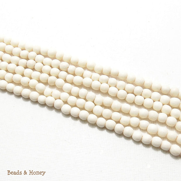 Whitewood Bleached Round 4-5mm (Full Strand)