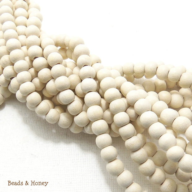 Whitewood Bleached Round 6mm (Full Strand)