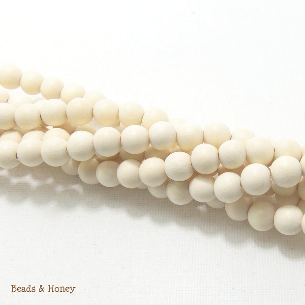Whitewood Bleached Round 8mm (Full Strand)