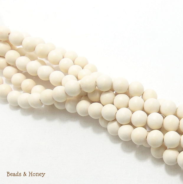Whitewood Bleached Round 10mm (Full Strand)
