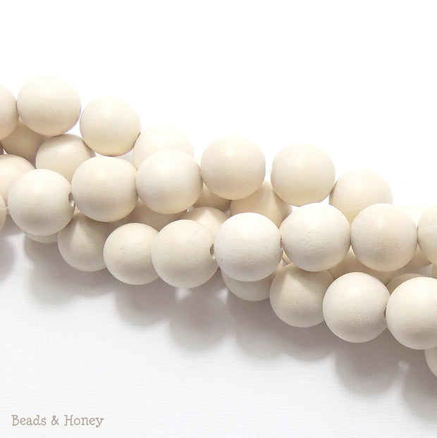 Whitewood Bleached Round 14-15mm (Full Strand)