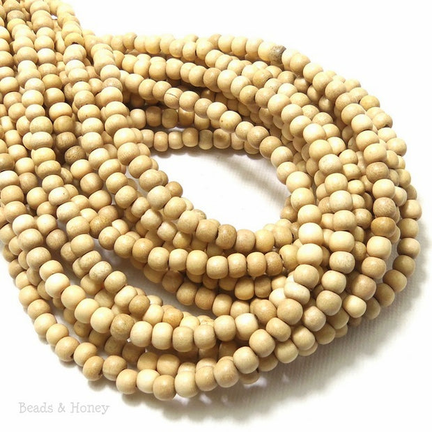 Whitewood Round 4-5mm (Full Strand)