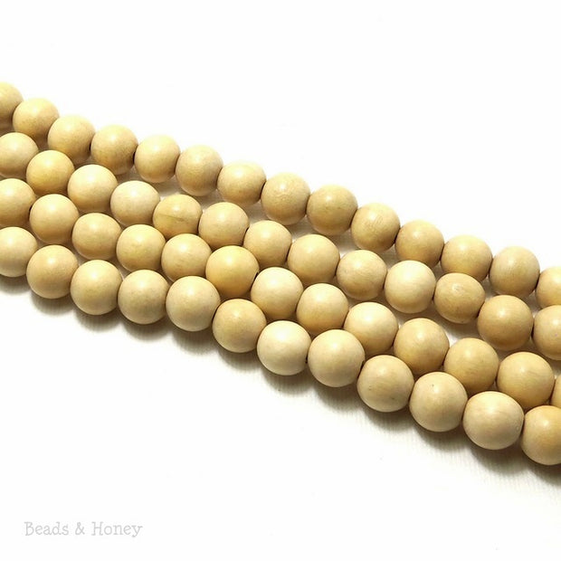 Whitewood Round 10mm (Full Strand)