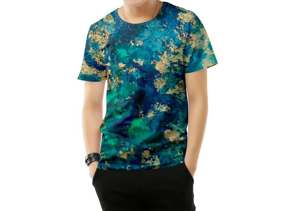 Blue Abstract 2 Short sleeve T-shirt for Men