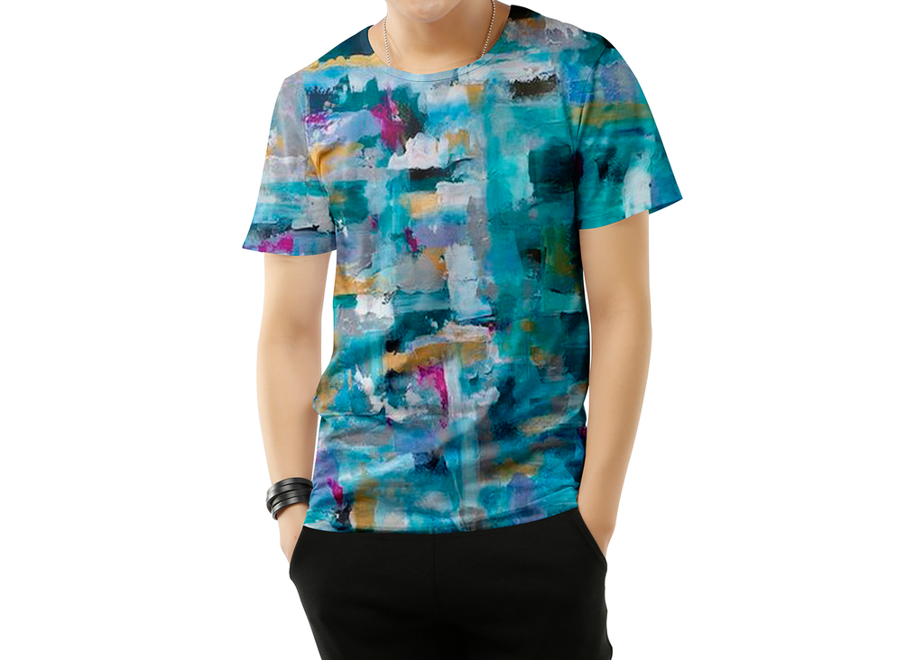 Abstract Short sleeve T-shirt for Men