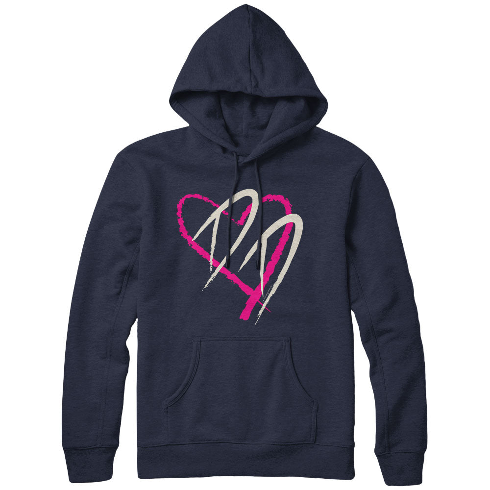 Dirty Dancing Heart Navy Hoodie