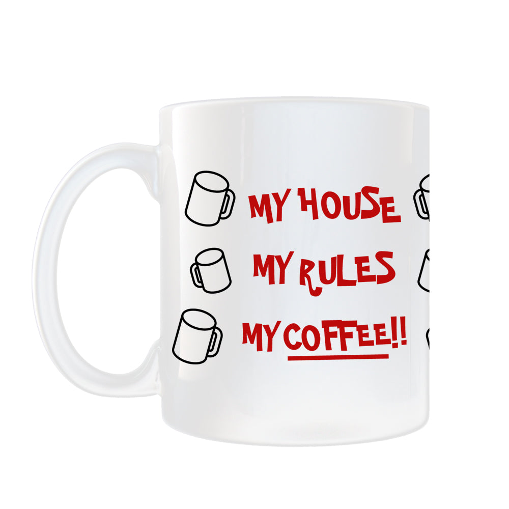 My House, My Rules, My Coffee!! Mug from Knives Out