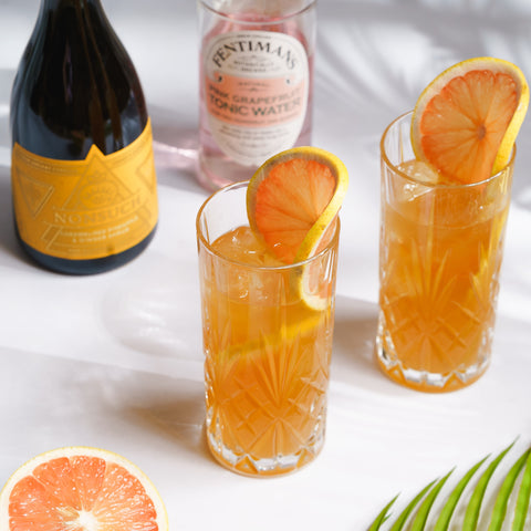 Pink Grapefruit and Pineapple Spritz