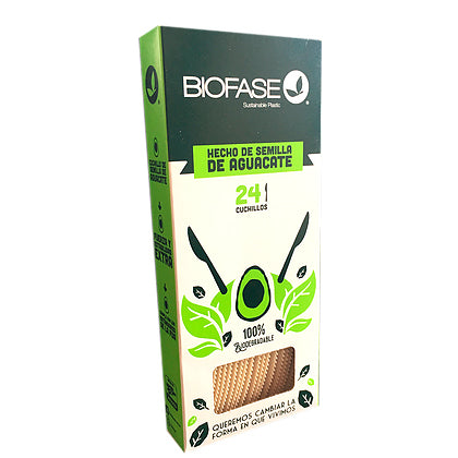 Pack 24 Cuchillos Biodegradables | Desechables