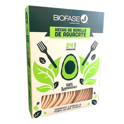 Pack 24 Tenedores Biodegradables | Desechables
