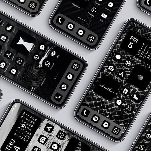 BLACK iOS 14 THEME