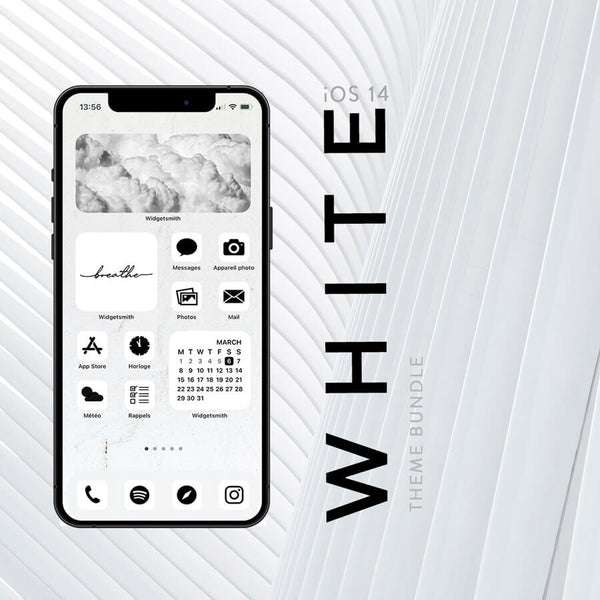 WHITE iOS 14 THEME