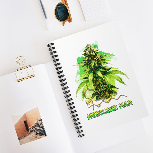 The medicine man spiral notebook, grow journal template, growing cannabis indoors, cannabis seeds