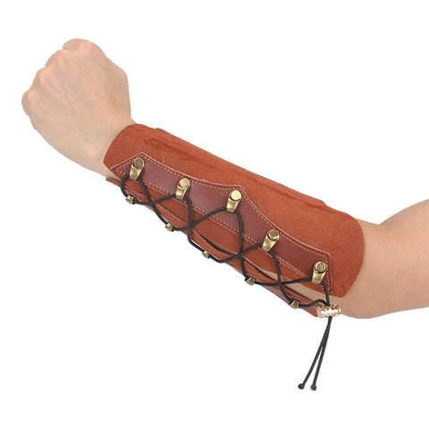 1Pc Cow Leather Archery Arm Guard