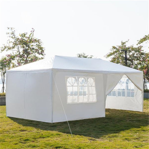 3 x 6m 4/6 Sides Waterproof Tent with Spiral Tubes White