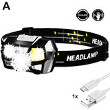ZK20 COB LED Mini-Headlamp USB Rechargeable
