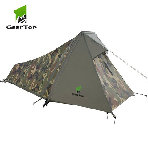 GeerTop One Person 3-4 Season Tent Ultralight Waterproof