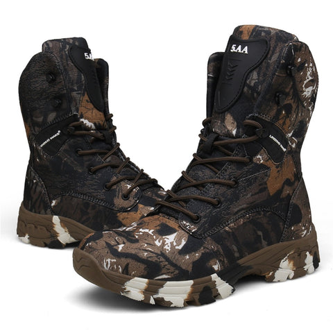 SAGACE Camo  Waterproof Tactical Boots