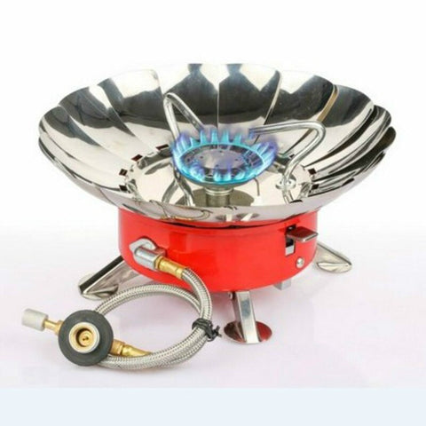 Portable Windproof Stove Gas Burners  With Extended Pipe 1-3people