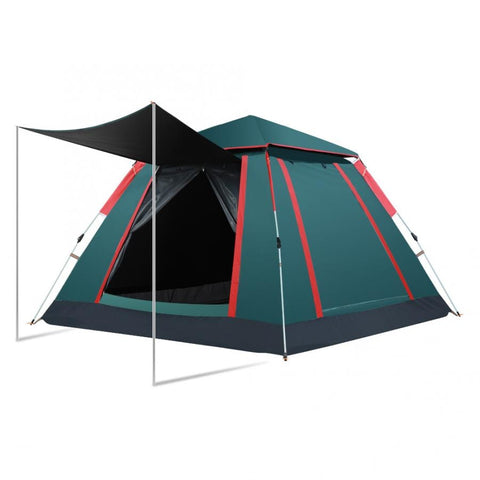 Auto Open 3-4 Person  Large View 4 Window 2 Skylight Camping Tent