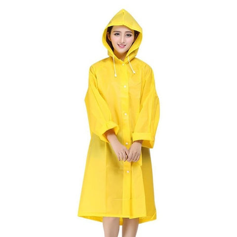 Adult Raincoat Men and Women  Translucent