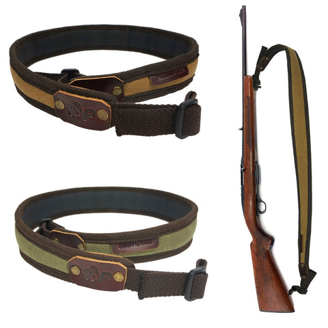 Adjustable Shotgun/ Rifle Waxed Canvas Shoulder Straps