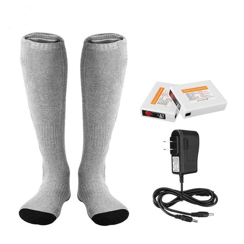 Rechargeable Heating Socks Washable Fabric Cotton-lined Sweat-absorbent  Breathable