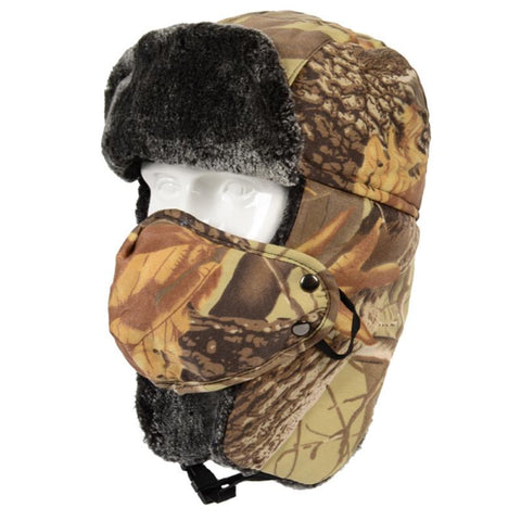 Warm Windproof Camouflage Cotton Hat
