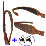 106cm Leather and Canvas  Adjustable Padded Shotgun Sling