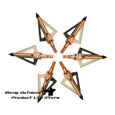 12X 100 Grain Broadhead 3 Blade Arrow Points