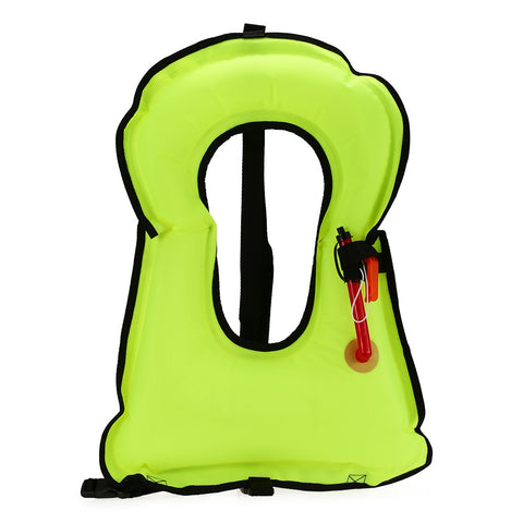 Inflatable Snorkel Vest Adult Life Jacket With Whistle