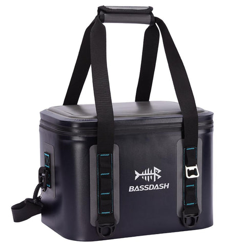 Bassdash Waterproof Insulated Soft Cooler Bag 15/24/30 Cans, Keep Drinks Cool for 3 Days, Leakproof For Fishing, Kayaking