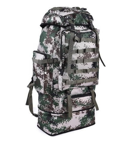 100L Large Capacity Tactical Backpack  Water-repellent